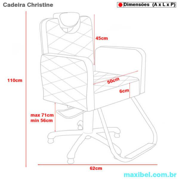Cadeira para Cabeleireiro e Maquiagem Christine