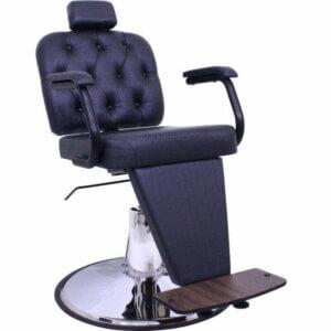 Poltrona para Barbeiro Barber Boss com Capitonê - Preto-4155