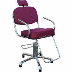 Cadeira de Corte de Cabelo Jump com Base Cromada - Bordô-0
