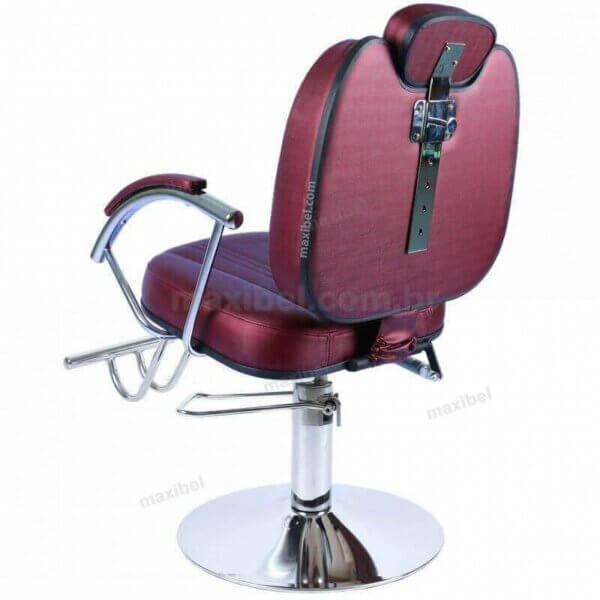 Cadeira de Cabeleireiro Reclinável Milano em Base Redonda-4945