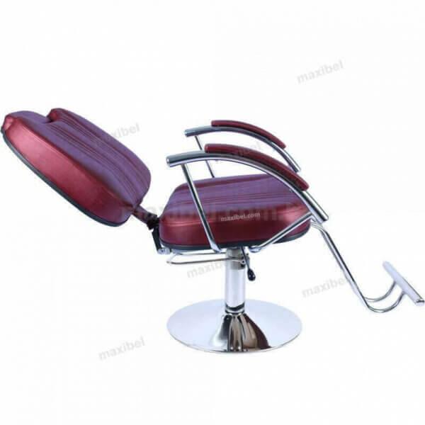 Cadeira de Cabeleireiro Reclinável Milano em Base Redonda-4946