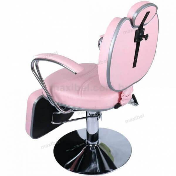 Cadeira de Maquiagem Padrão com Base Redonda e Descanso de Pés-5072