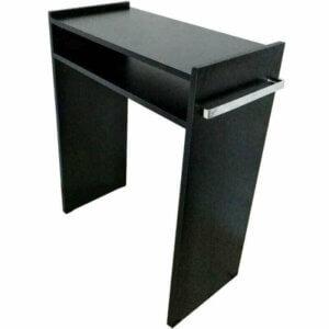 Mesa de Manicure com Prateleira e Alças para Toalhas - Preto-0