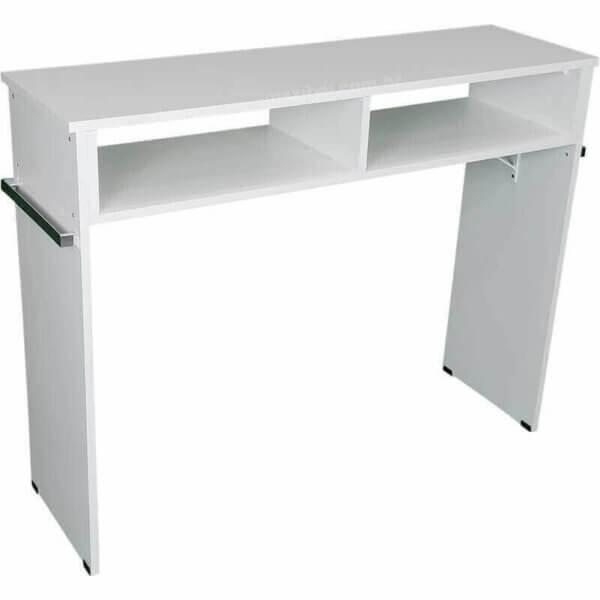 Mesa de Manicure com 1m e 2 Compartimentos - Branco 1007730-5426