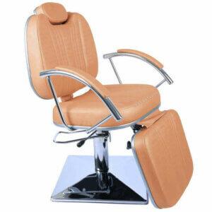 Cadeira de Maquiagem Milano com Relax em Base Quadrada - Rosé-0