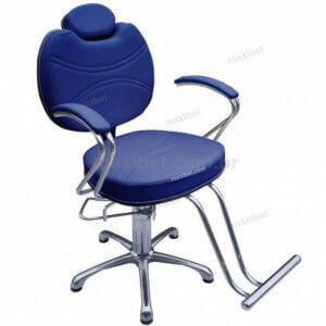 Cadeira Hidráulica Reclinável Padrão - Azul Marinho-0