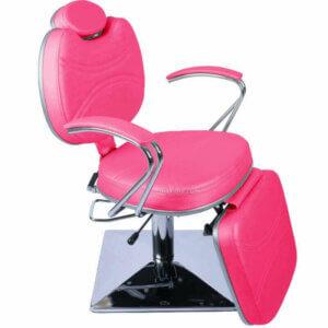 Cadeira de Maquiagem Padrão com Base Quadrada e Relax - Rosa-0