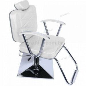 Cadeira de Salão de Beleza Stefany com Base Quadrada - Branco-0