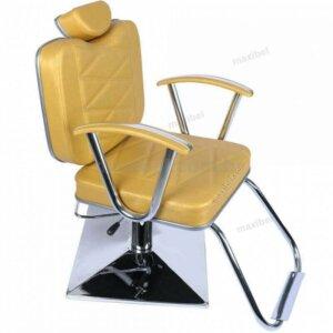 Cadeira de Salão de Beleza Stefany com Base Quadrada - Dourado-0