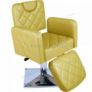 Cadeira de Sobrancelha em Base Quadrada Splenda com Relax - Dourado-0