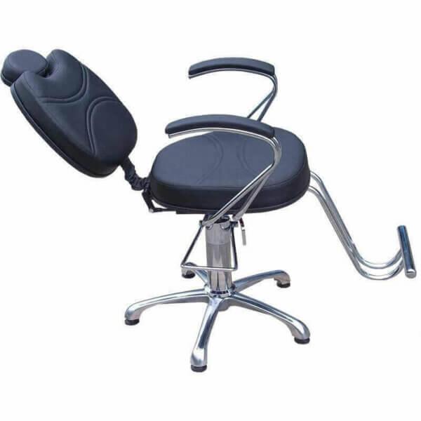Kit com 1 Cadeira Padrão Relax, 1 Cadeira Padrão Reclinável, Lavatório e Mocho DZ-7742