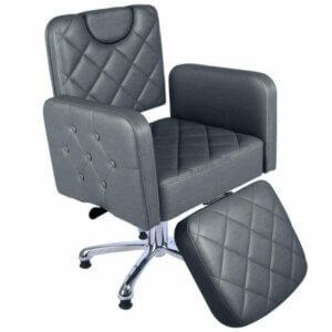 Cadeira de Maquiagem Quadrada Splenda com Relax - Grafite-0