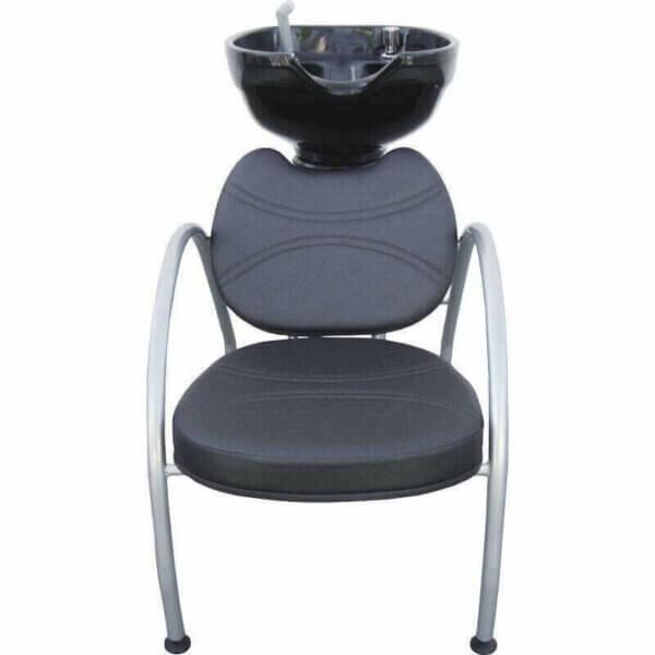 Kit com 1 Cadeira Padrão Relax, 1 Cadeira Padrão Reclinável, Lavatório e Mocho DZ-7745