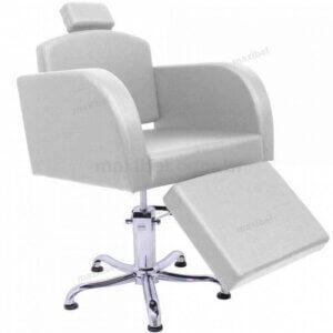 Cadeira Reclinável Sigma com Descanso de Pernas Ajustável - Branco-0