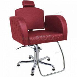 Cadeira de Cabelo Reclinável Sigma em Matelassê - Bordô-0