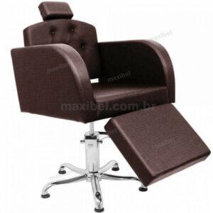 Cadeira Sigma em Botonê com Descanso de Pernas - Café-0
