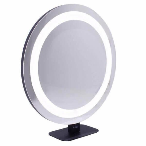 Espelho Redondo de Maquiagem com LED