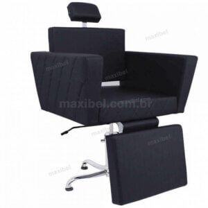 Cadeira Ômega Matelassê com Relax para Maquiagem - Preto-0