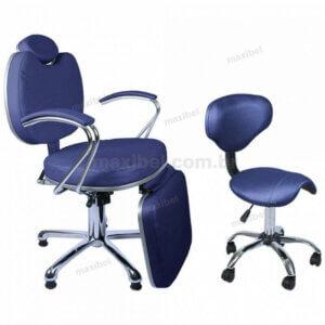 Kit Mocho Sela com Cadeira de Maquiagem Padrão - Azul Marinho-0