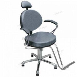 Cadeira de Cabeleireiro Carol Luxo Sem Reclínio - Grafite-0