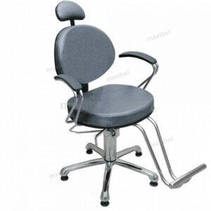 Cadeira de Cabeleireiro Reclinável Carol Luxo - Grafite-0