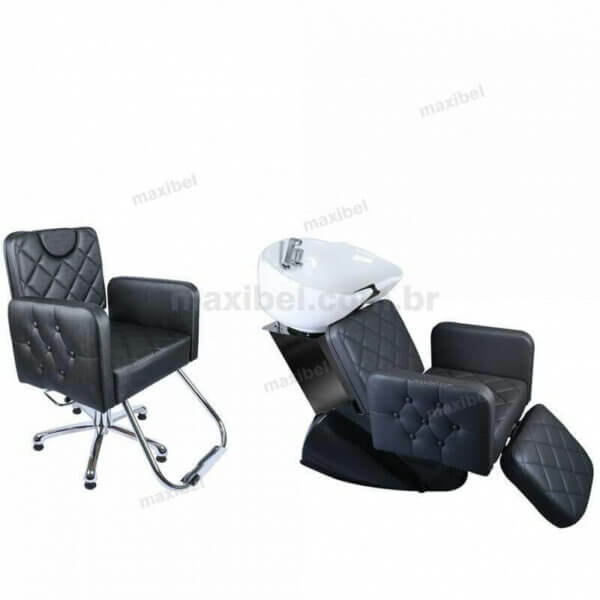 Kit Salão com Cadeira Splenda Reclinável e Lavatório com Relax Splenda