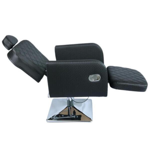 Cadeira de Maquiagem Lux com Descanso de Pernas e Base Quadrada