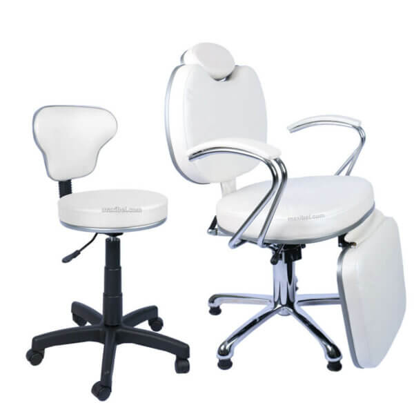 Kit Mocho e Cadeira de Maquiagem Padrão com Relax