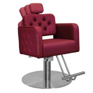 cadeira de cabeleireiro módena com base redonda