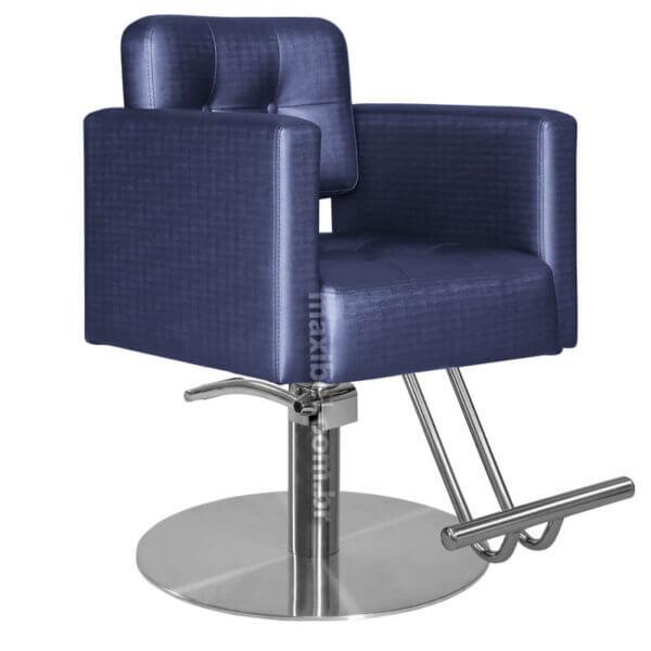 Cadeira de Cabeleireiro Milão com Encosto Fixo - Base Redonda