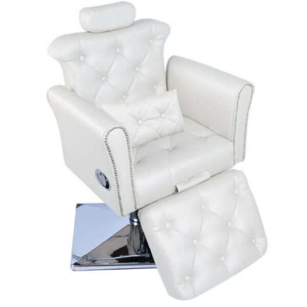 Cadeira de Maquiagem Lya com Relax e Base Quadrada e Almofada